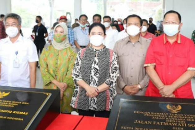 Peresmian nama Bandara Pekon Serai Pesisir Barat Lampung menjadi Bandara Muhammad Taufiq Kiemas oleh Ketua DPRRI Puan Maharani tengah - Bandara Pekon Serai Berubah Nama Menjadi Bandara Muhammad Taufiq Kiemas