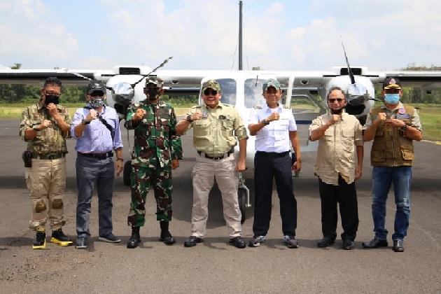 bupati musi banyuasin dodi reza alex noerdin bersama jajaran - Bandara Pangeran Abdul Hamid Kebanggaan Masyarakat Muba